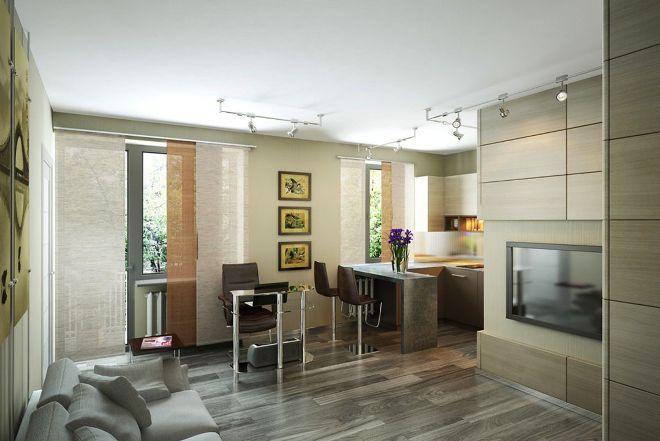 Как расставить мебель в квартире студии