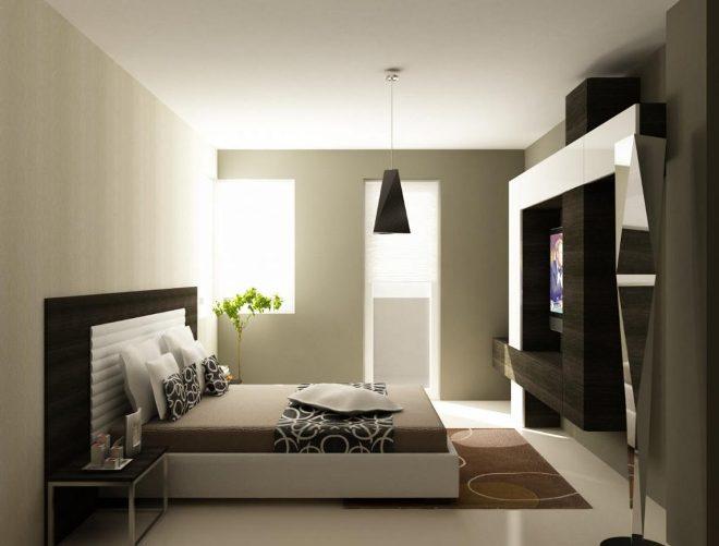 Конструктивизм в дизайне интерьера спальни