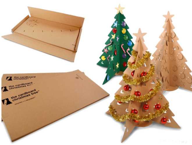 Новогодние поделки из картона