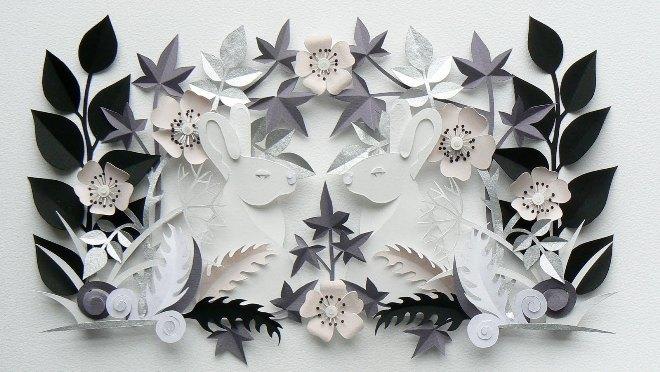 Объемные картины из бумаги в разных техниках