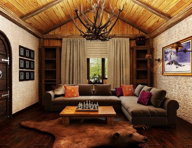 Особенности охотничьего стиля в интерьере дома