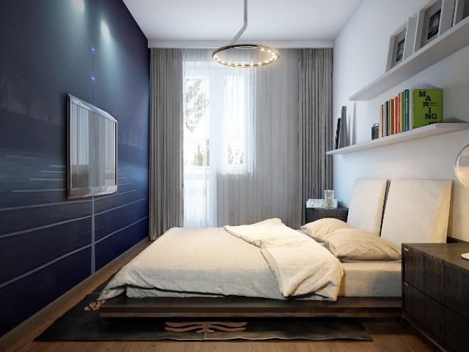 Особенности планировки узкой спальни