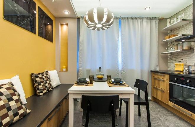 Освещение и декор кухни 11 кв. м