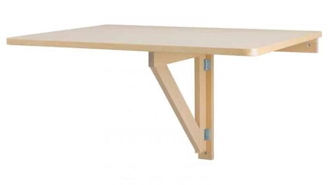 Откидной стол с креплением к стене