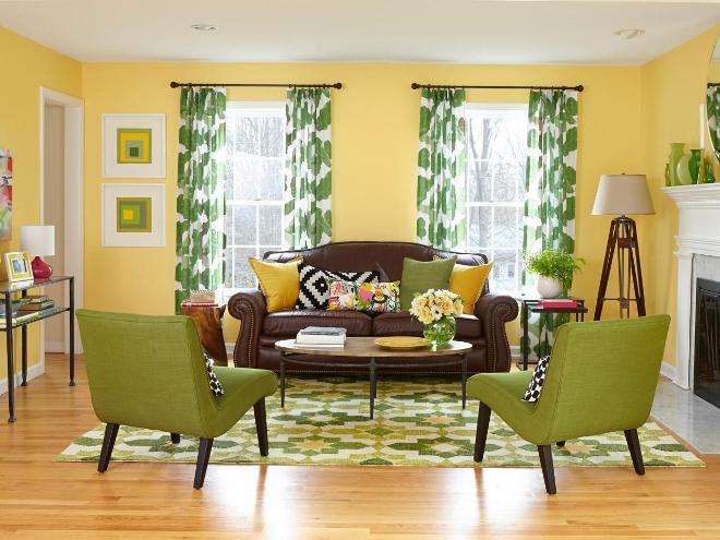 Персиковый и зеленый