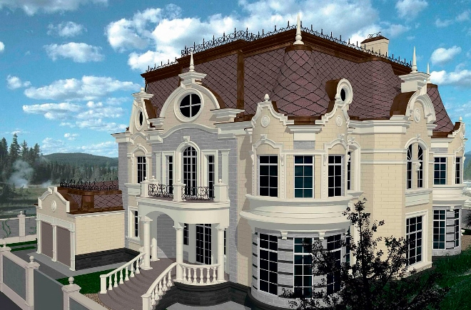 Планировка и экстерьер дома в классическом стиле