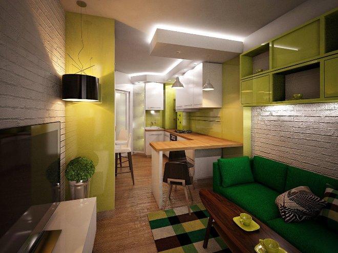 Планировка и зонирование кухни 20 кв м
