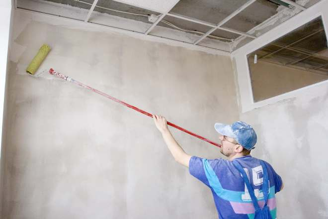 Подготовка стен в ванной для покраски