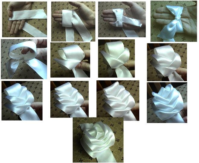 Простые поделки из лент с пошаговой инструкцией