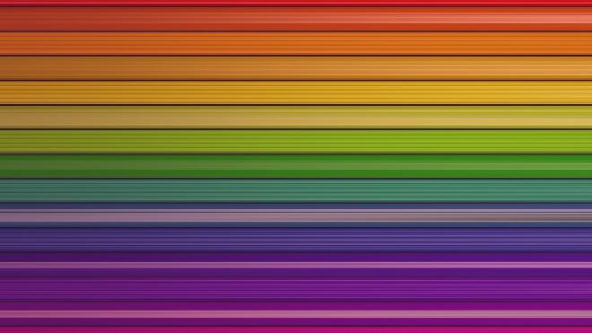 Разноцветные обои в полоску разных размеров