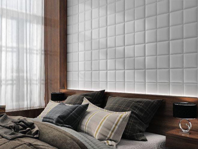 Разнообразие материалов мягких стеновых панелей
