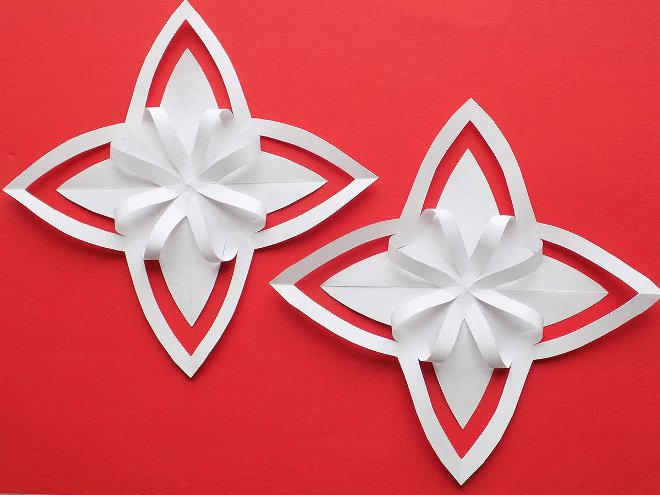 Снежинка-киригами