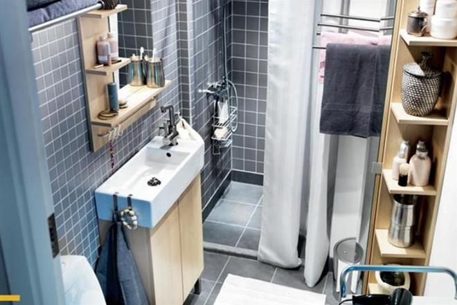 Стиль и дизайн полочек в ванную