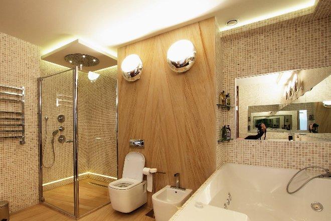 Виды освещения ванной