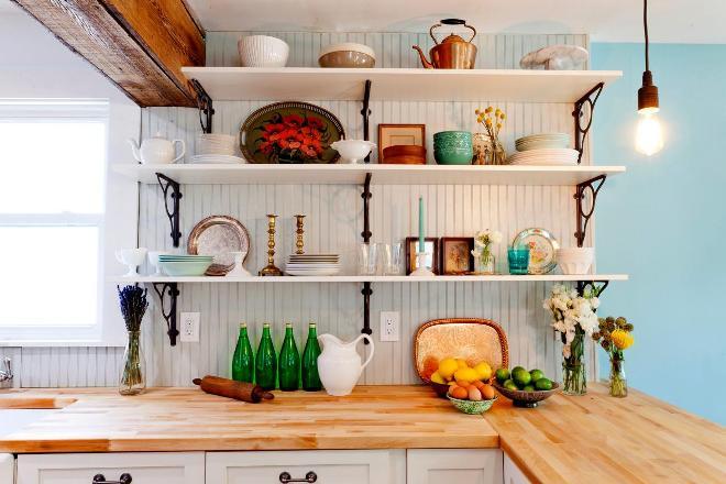 Виды полок на кухню