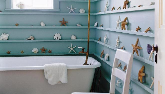 Виды полок в ванную