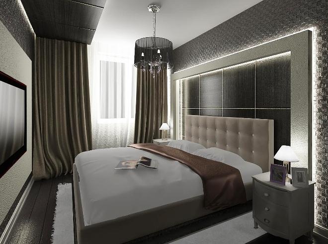 Выбор подходящей мебели в узкую спальню