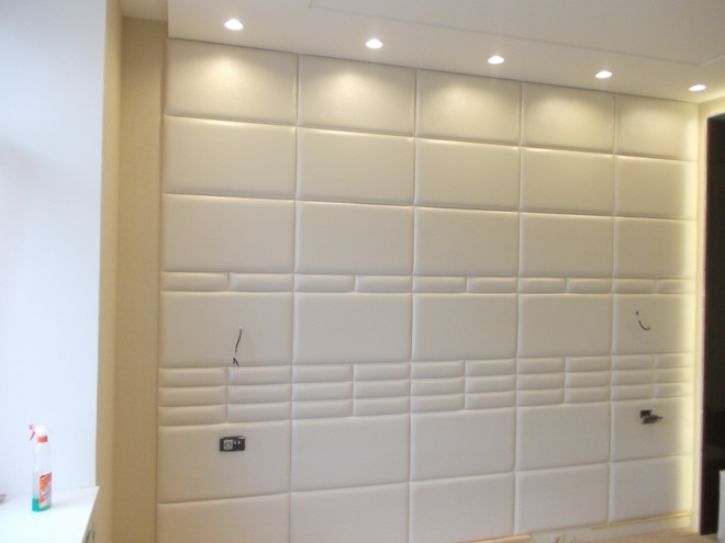 Мягкие стеновые панели из замши