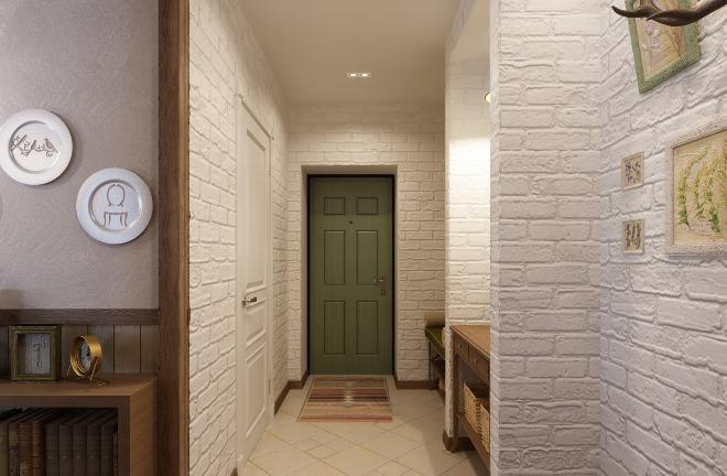Отделка стен, пола и потолка в прихожей и коридоре