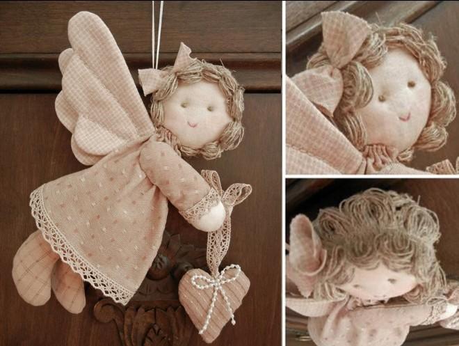 Ангелочки из мешковины
