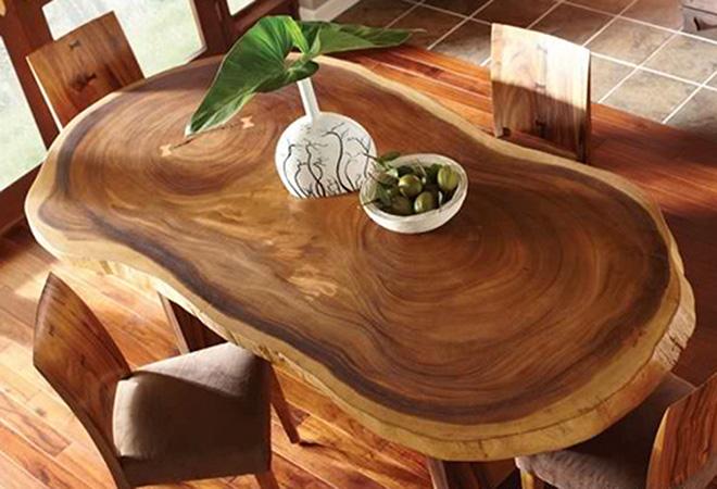 Декор стола из массива