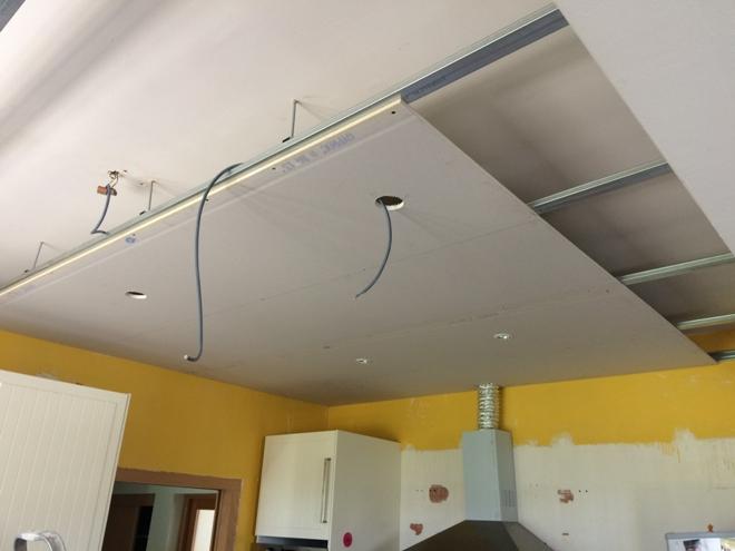 Как сделать потолок из гипсокартона на кухне своими руками