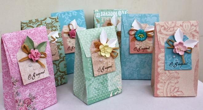 Как упаковать подарок на 8 марта