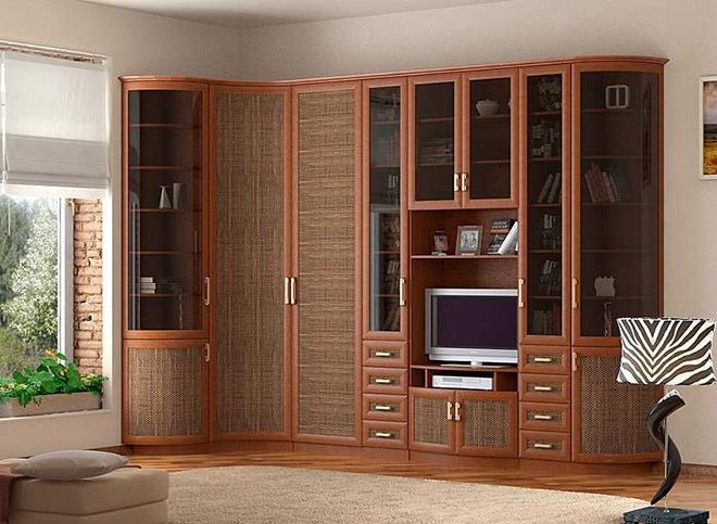 Основные виды конструкций стенок для гостиных