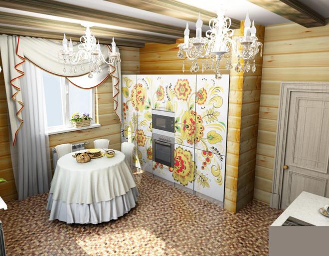 Основные черты русского стиля в интерьере