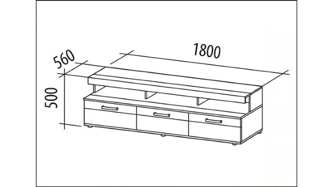 Размеры и виды тумбы под ТВ