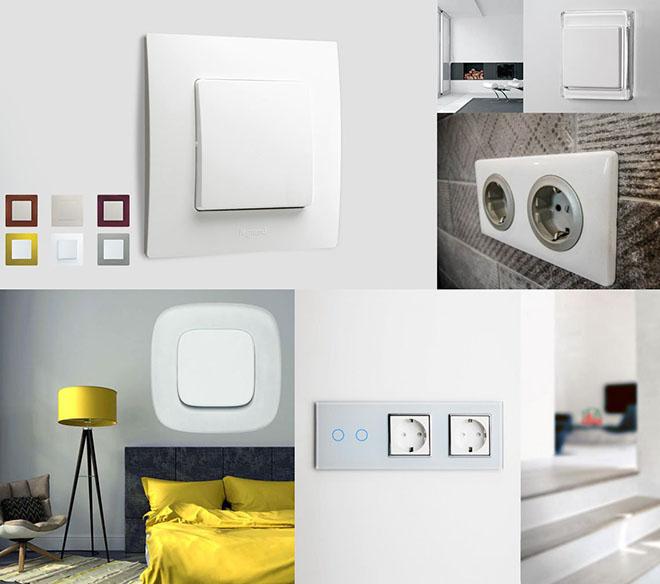 Современный дизайн розеток и выключателей