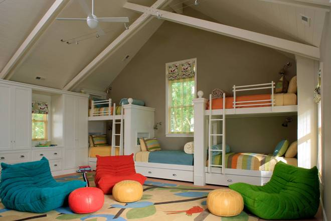 Спальня на мансарде для ребенка