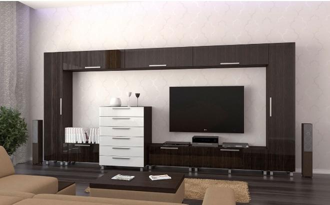Стенки для гостиной в стиле минимализм