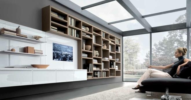 Стенки для гостиной в стиле модерн