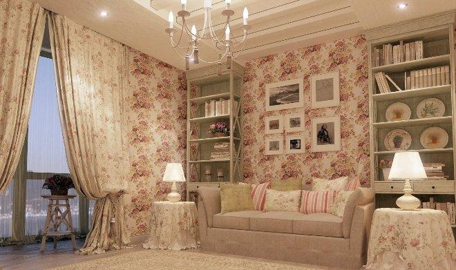 Стенки для гостиной в стиле прованс и шебби-шик