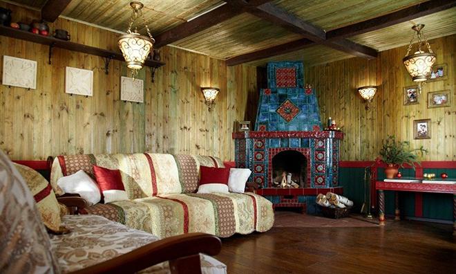 Стилизация комнат под русский стиль