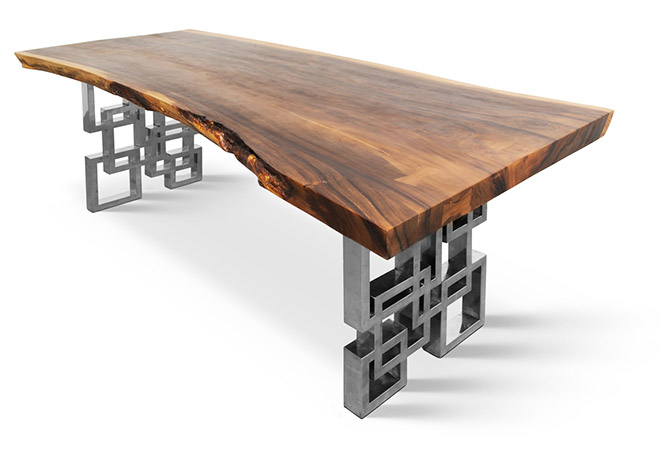 Столы класса люкс из экзотических пород дерева