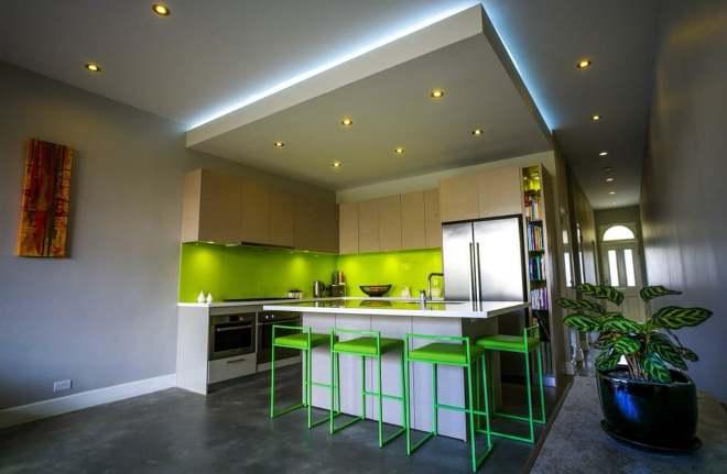 Типы потолков для кухни