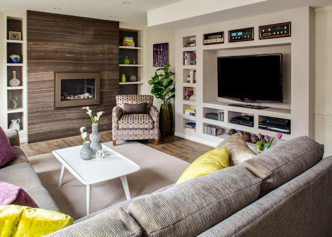 Удобное расположение телевизора в интерьере дома