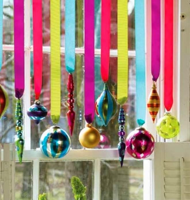 Новогодние украшения из ленты