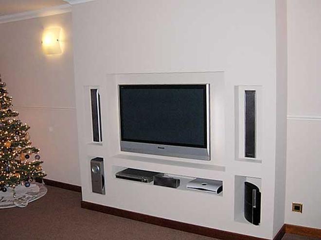 стойки из гипсокартона под телевизор