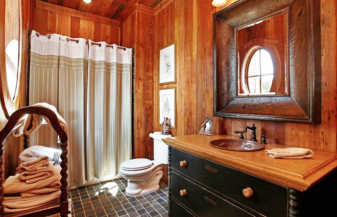 Ванная в русском стиле