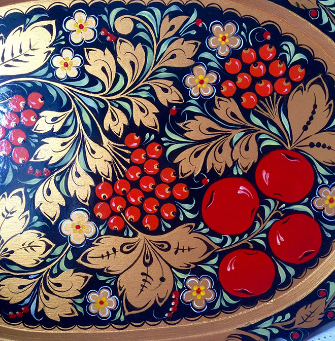 Цветовая палитра хохломской росписи