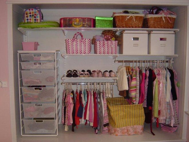 Кладовка для хранения детских вещей
