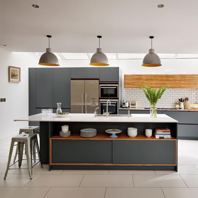 Дизайн и стилистика серой кухни