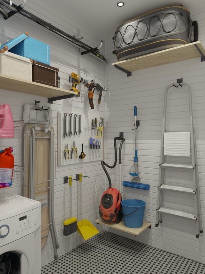 Кладовка для хранения инструментов