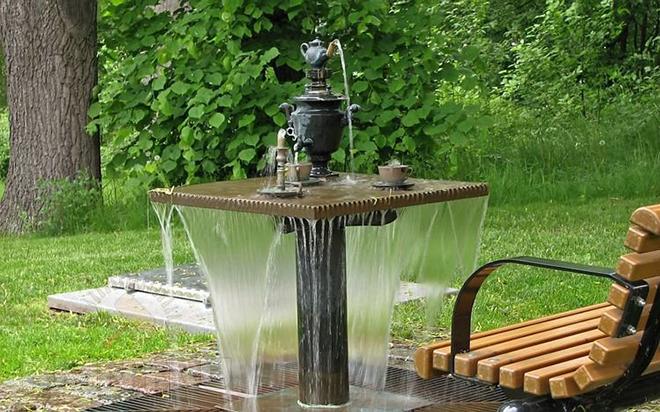 Идеи для садового фонтана из подручных средств