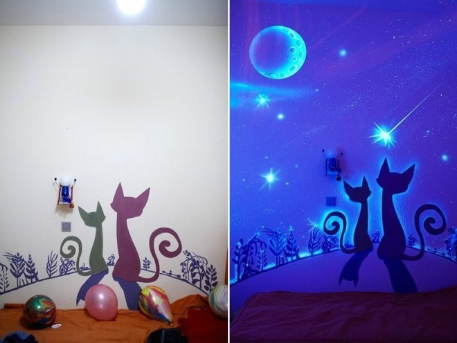 Люминесцентные светящиеся обои