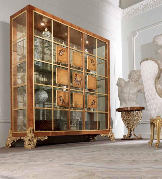 Модели шкафов витрин в гостиную