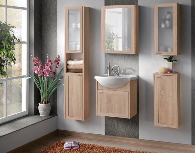 Навесные шкафчики в ванную